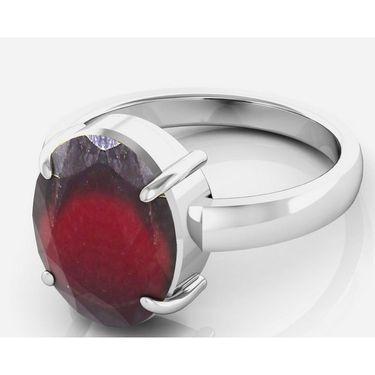 Kiara Jewellery Certified Hessonite 3.0 cts & 3.25 Ratti Garnet Ring_Garw