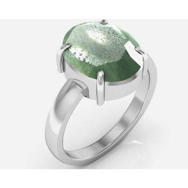 Kiara Jewellery Certified Panna 3.0 cts & 3.25 Ratti Green Emerald Ring_Gerw