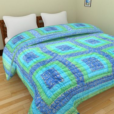 GRJ India Designer Printed Double AC Bed Quilt-GRJ-DQ-142