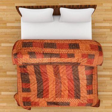 GRJ India Designer Printed Single Bed Quilt-GRJ-SQ-147