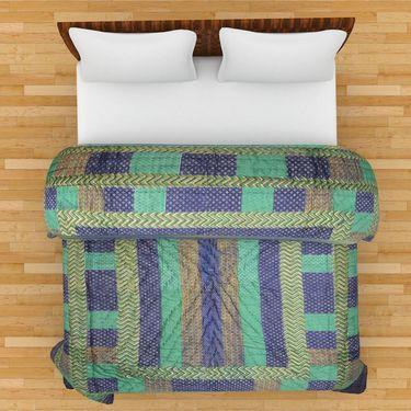 GRJ India Designer Printed Single AC Bed Quilt-GRJ-SQ-148