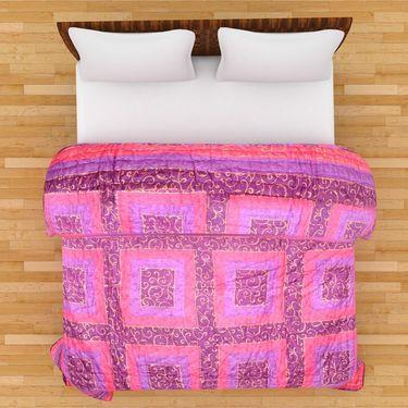GRJ India Designer Printed Single Bed Quilt-GRJ-SQ-151