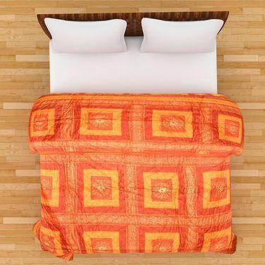 GRJ India Designer Printed Single Bed Quilt-GRJ-SQ-162