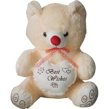 Valentine Combo of 36 Inches Teddy & Soft Toy Heart - Beige