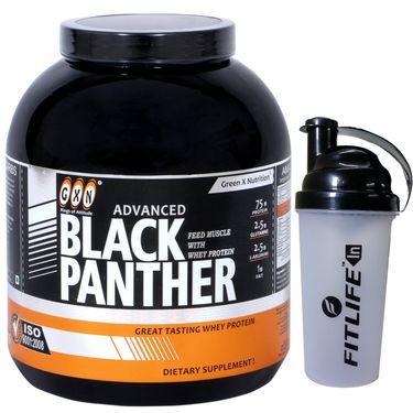 GXN Advance Black Panther 5 Lb (2.26kgs) Butterscotch Flavor  + Free Protein Shaker