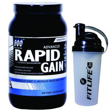 GXN Advance Rapid Gain 2 Lb (907grms) Vanilla Flavor + Free Protein Shaker