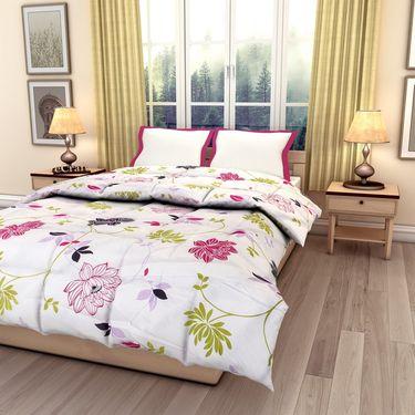 eCraftIndia Designer Printed Single Bed Reversible AC Comforter-HFBC123