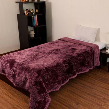 eCraftIndia Designer Printed Single Bed Mink Blanket-HFSMB107