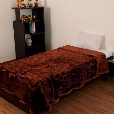 eCraftIndia Designer Printed Single Bed Mink Blanket-HFSMB108