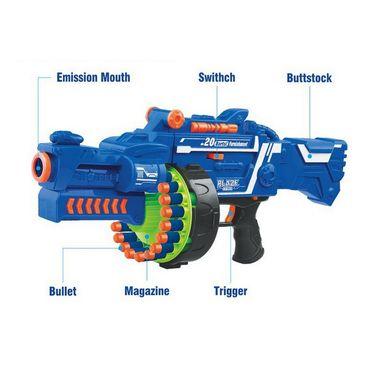Kids Semi-Auto Barrel Rapid Fire Gun with 40 Soft Darts