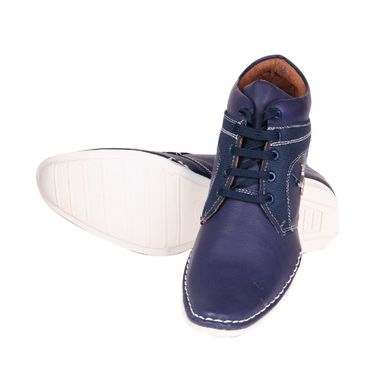 Faux Leather Blue Casual Shoes -bn19