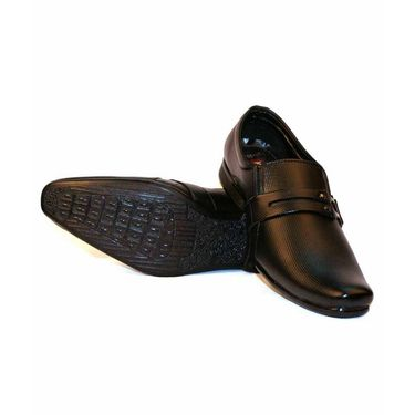 Faux Leather Black Formal Shoes -bn43
