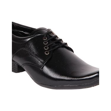 Faux Leather Black Formal Shoes -bn45