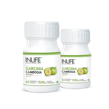 INLIFE Pack Of 2 Garcinia Cambogia Ext 60% HCA For Weight Loss