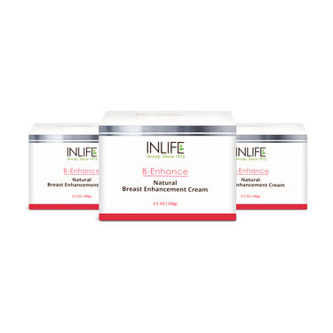 INLIFE Natural Breast Enlargement Cream, 3 Pack100 gm Each For Breast Size