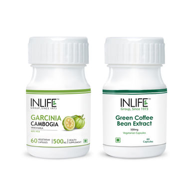 INLIFE Weight Management Combo Of Green Coffee bean & Garcinia Cambogia Extract Veg Capsules