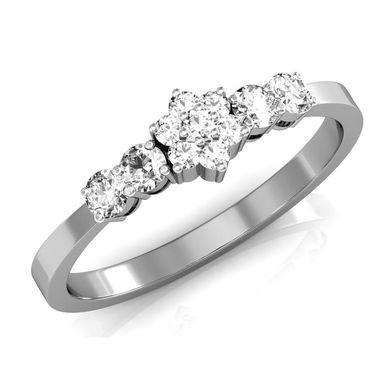 Avsar Real Gold & Swarovski Stone Nilima Ring_I076wb