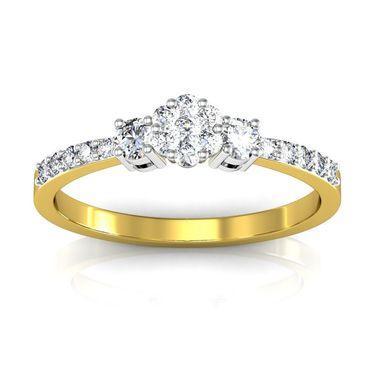 Avsar Real Gold & Swarovski Stone Patana Ring_I082yb