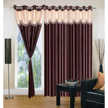 IWS Set of 3 Designer Door curtains-Multicolor- RNG-c01-383