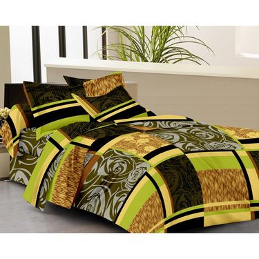IWS Set of 2 100% Cotton Double Bedsheet with 4 Pillow Cover-IWS-CB-634