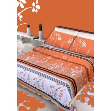 IWS Designer Cotton Printed Double Bedsheet with 2 Pillow cover- IWS-CB-83