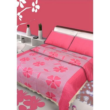 IWS Set of 2 Designer Double Cotton Bedsheet with 4 Pillow cover IWS-CCB-05