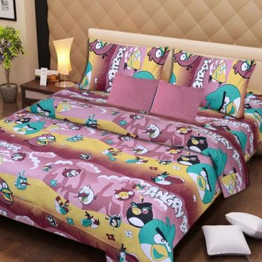 IWS Set of 2 Designer Cotton kids Double Bedsheet with 4 Pillow cover IWS-CCB-32