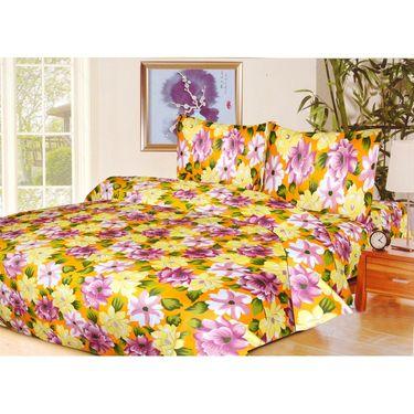 10 Piece Home Decor Combo (IWS 2 Bedsheet with 4 Pillow Covers + 2 Door Curtains + 2 Mats) -IWS-JC-07