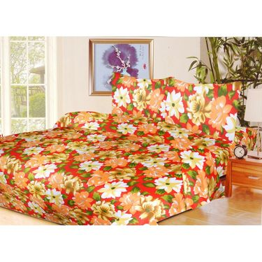10 Piece Home Decor Combo (IWS 2 Bedsheet with 4 Pillow Covers + 2 Door Curtains + 2 Mats) -IWS-JC-15