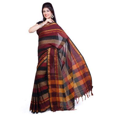 Ishin Cotton Saree - Multicolor-SNGM-838
