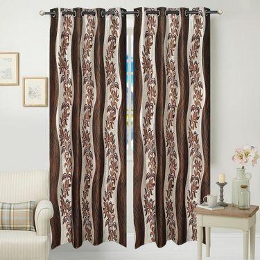 JBG Home Store Set of 2 Beautiful Design Door Curtains-JBG920_1BLD