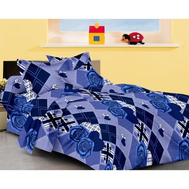 Set of 4 Designer Cotton Double Bedsheet with 8 Pillow covers - JBG_Combo1