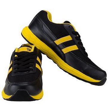 V22 Energy Jogger Shoes  Black & Yellow Size - 7
