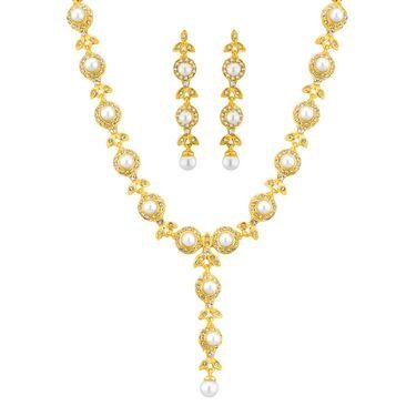 Jpearls Cz Pearl Necklace Set - JPNOV-14-145