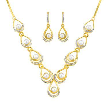 Jpearls Designer Fashion Pearl Necklace Set - NE40659