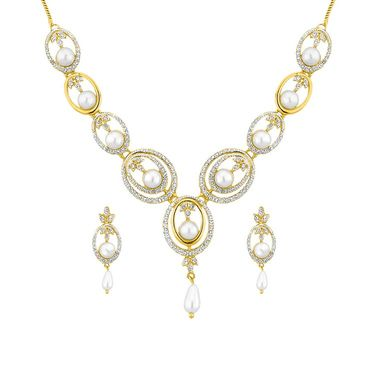 Jpearls Shryln Pearl Fashion Pearl Necklace Set - NEB10695