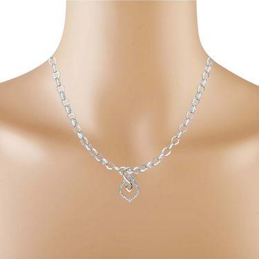 Kiara Swarovski Signity Sterling Silver Kareena Pendant_Kip0505