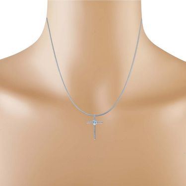 Kiara Swarovski Signity Sterling Silver Tamilnadu Pendant_Kip0510