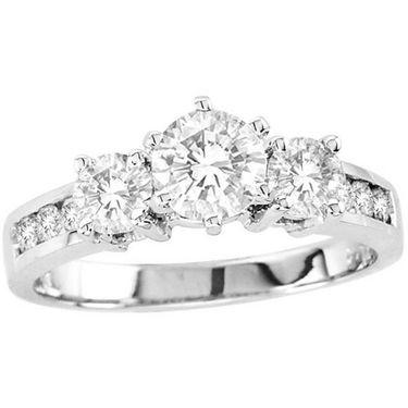 Kiara Swarovski Signity Sterling Silver Sunakshi Ring_Kir0678 - Silver
