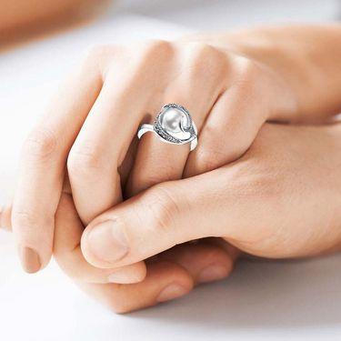 Kiara Swarovski Signity Sterling Silver Kimaya Ring_Kir0687 - Silver