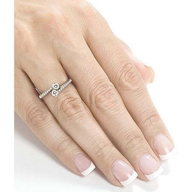 Kiara Swarovski Signity Sterling Silver Janavi Ring_Kir0704 - Silver