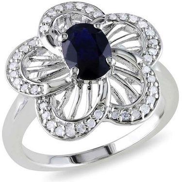 Kiara Swarovski Signity Sterling Silver Rajashree Ring_Kir0747 - Silver