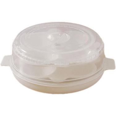 Microwave Idli/Pizza Maker - 8 Idlies - White