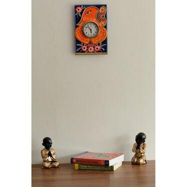 Wooden Papier Mache Lord Ganesha Artistic Wall Clock-KWC544