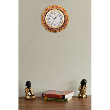 Wooden Papier Mache Glorious Wall Clock-KWC559