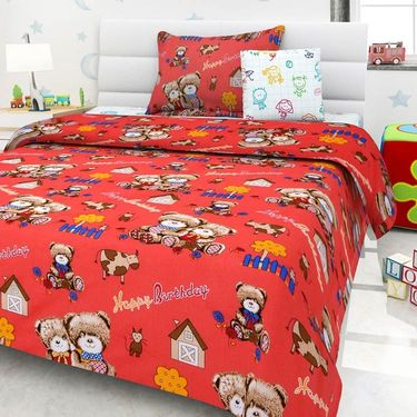 Set Of 2 Single Kids Bedsheet With 2 Pillow Cover -1409-1410