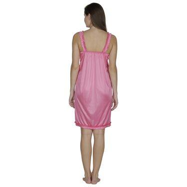 Klamotten Satin Plain Nightwear - Pink - X55_Pink