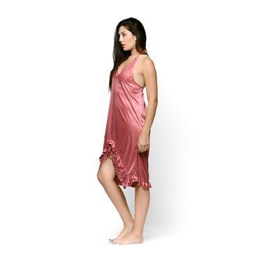Klamotten Satin Plain Nightwear - Pink - YY102