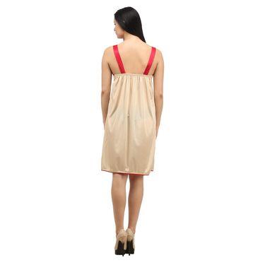 Klamotten Satin Plain Nightwear - Beige - YY14