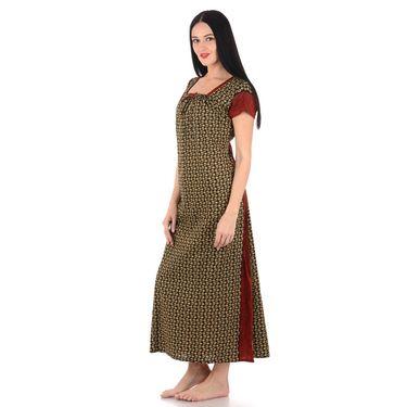 Klamotten Cotton Block Print Nightwear - Multicolor - YY204
